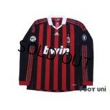 AC Milan 2009-2010 Home Long Sleeve Shirt #80 Ronaldinho