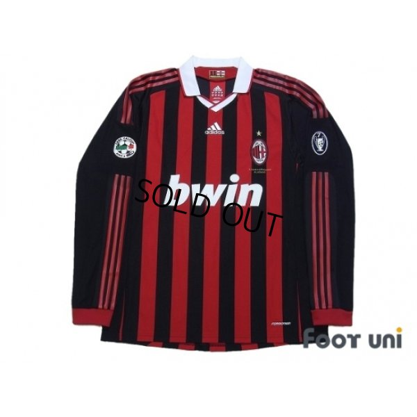 Photo1: AC Milan 2009-2010 Home Long Sleeve Shirt #80 Ronaldinho