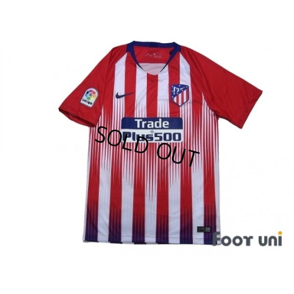 Photo1: Atletico Madrid 2018-2019 Home Shirt La Liga Patch/Badge w/tags