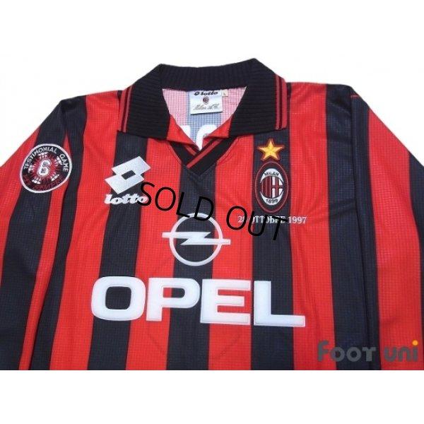 Photo3: AC Milan 1997-1998 Home Long Sleeve Shirt #6 Baresi w/tags