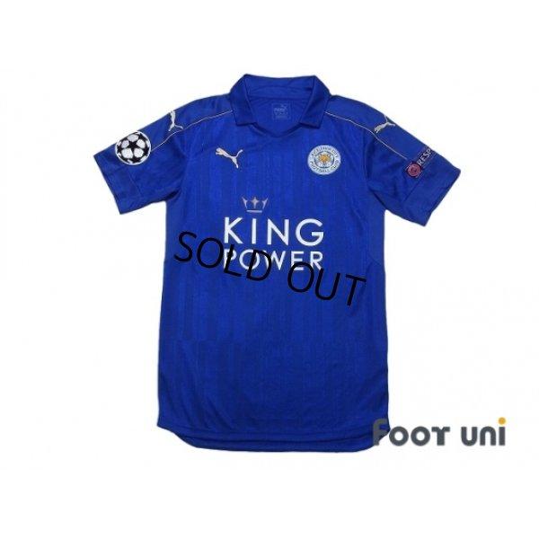 Photo1: Leicester City 2016-2017 Home Shirt #20 Okazaki Champions League Patch/Badge Respect Patch/Badge