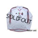 AC Milan 2004-2005 Away Match Issue Long Sleeve Shirt #9 Inzaghi Champions League Patch/Badge
