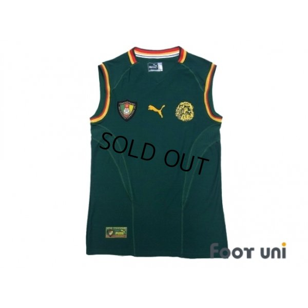 Photo1: Cameroon 2002 Home Authentic Sleeveless Shirt