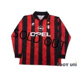 AC Milan 1994-1995 Home Long Sleeve Shirt #10 Scudetto Patch/Badge