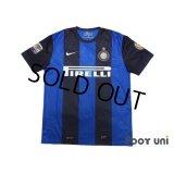 Inter Milan 2012-2013 Home Shirt #99 Cassano Serie A Tim Patch/Badge