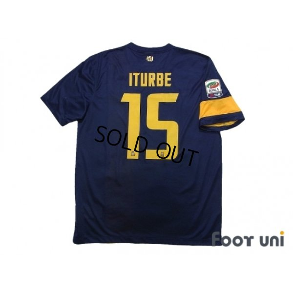 Photo2: Hellas Verona FC 2013-2014 Home Shirt #15 Iturbe Serie A Tim Patch/Badge w/tags