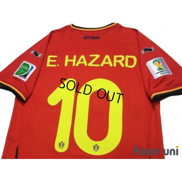 Photo4: Belgium 2014 Home #15 E.Hazard FIFA World Cup 2014 Brazil Patch/Badge w/tags