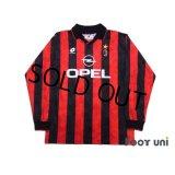 AC Milan 1995-1996 Home Long Sleeve Shir #6 Baresi