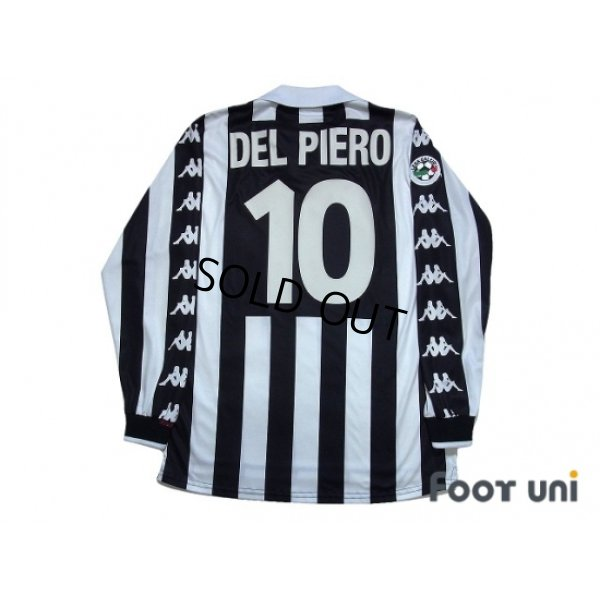Photo2: Juventus 1999-2000 Home Long Sleeve Shirt #10 Del Piero Lega Calcio Patch/Badge