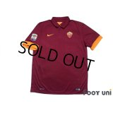 AS Roma 2014-2015 Home Shirt #16 De Rossi Serie A Tim Patch/Badge w/tags