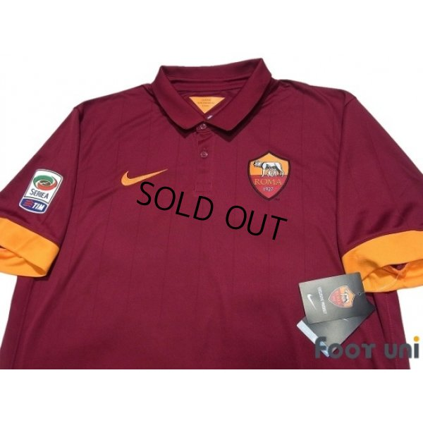 Photo3: AS Roma 2014-2015 Home Shirt #16 De Rossi Serie A Tim Patch/Badge w/tags