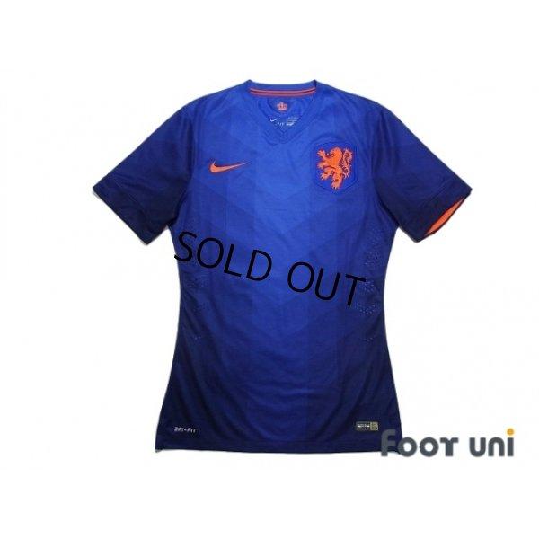 Photo1: Netherlands 2014 Away Authentic Shirt