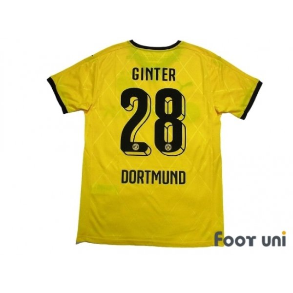 Photo2: Borussia Dortmund 2015-2016 Home Shirt #28 Ginter