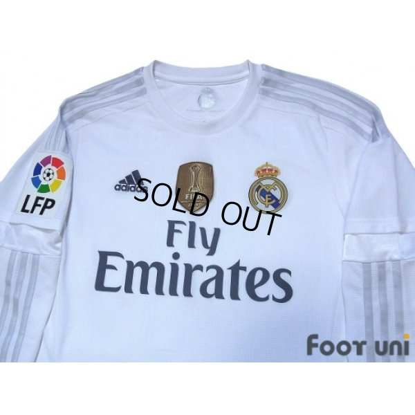 Photo3: Real Madrid 2015-2016 Home Long Sleeve Shirt #4 Sergio Ramos LFP Patch/Badge