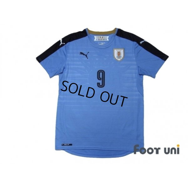Photo1: Uruguay 2016 Home Shirt #9 L.Suarez