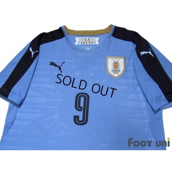 Photo3: Uruguay 2016 Home Shirt #9 L.Suarez