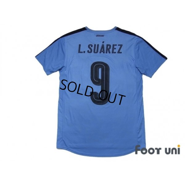 Photo2: Uruguay 2016 Home Shirt #9 L.Suarez