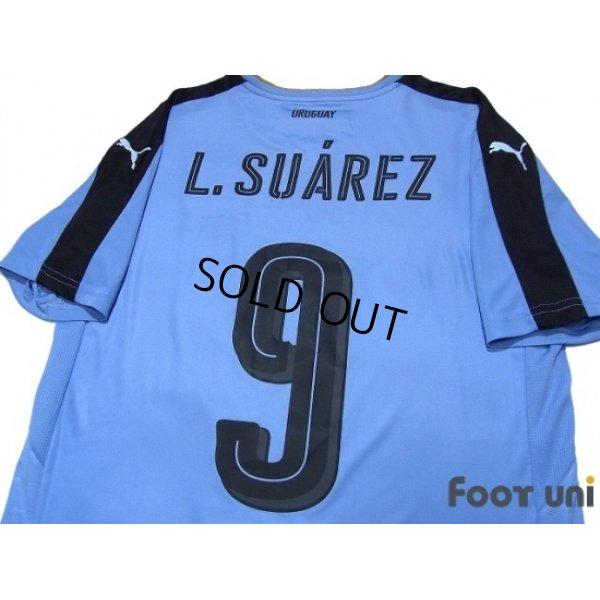 Photo4: Uruguay 2016 Home Shirt #9 L.Suarez