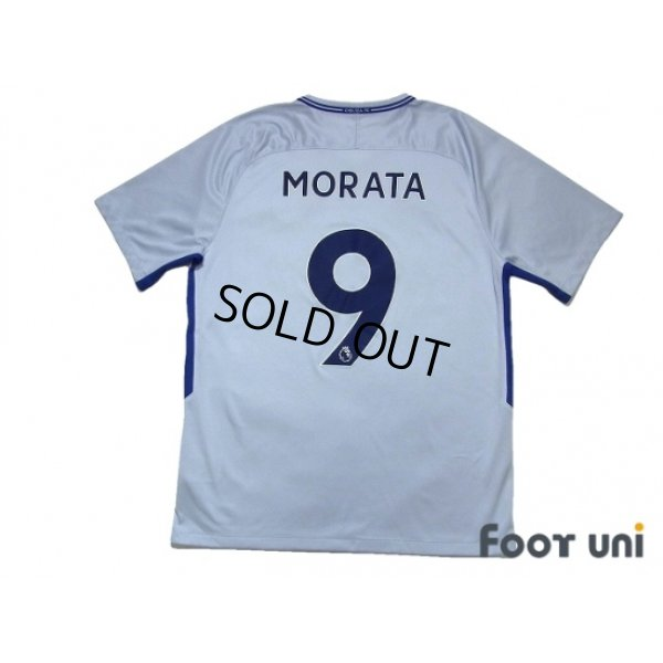 Photo2: Chelsea 2017-2018 Away Shirt #9 Morata