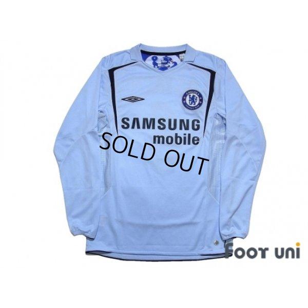 Photo1: Chelsea 2005-2006 Away Long Sleeve Shirt #6 Carvalho