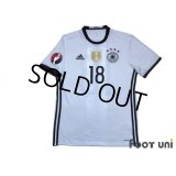 Germany Euro 2016 Home Shirt #18 Kroos 2016 UEFA EURO Qualifiers Patch/Badge