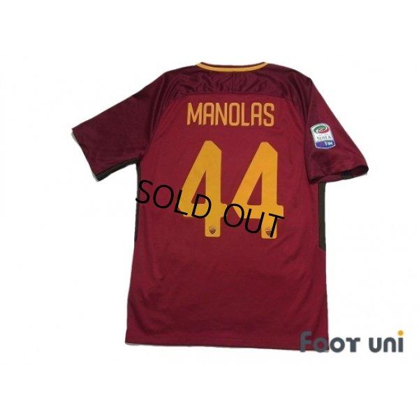 Photo2: AS Roma 2017-2018 Home Shirt #44 Konstantinos Manolas Serie A Tim Patch/Badge