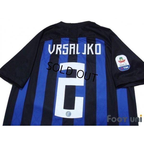 Inter Milan 2018-2019 Home Shirt #2 Sime Vrsaljko - Online Store ...