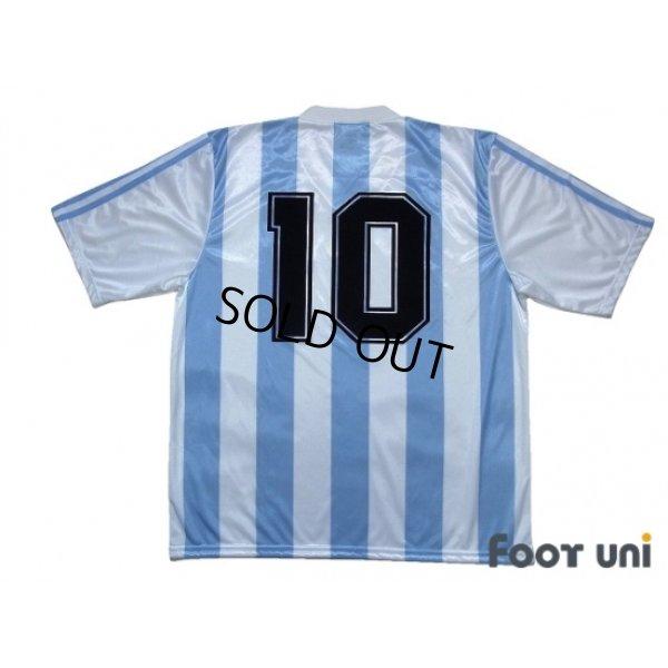 Photo2: Argentina 1991-1992 Home Shirt #10