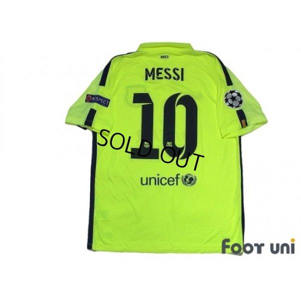Photo3: FC Barcelona 2014-2015 3rd Shirts and shorts Set #10 Messi w/tags