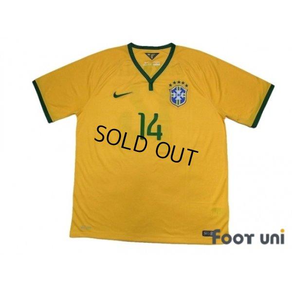 Photo1: Brazil 2014 Home Shirt #14 Maxwell