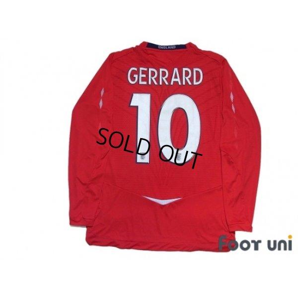 Photo2: England 2008 Away Long Sleeve Shirt #10 Gerrard