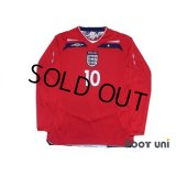England 2008 Away Long Sleeve Shirt #10 Gerrard