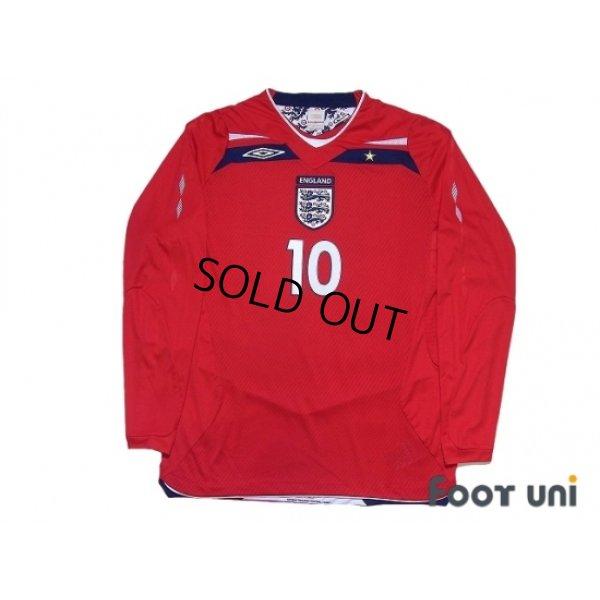 Photo1: England 2008 Away Long Sleeve Shirt #10 Gerrard