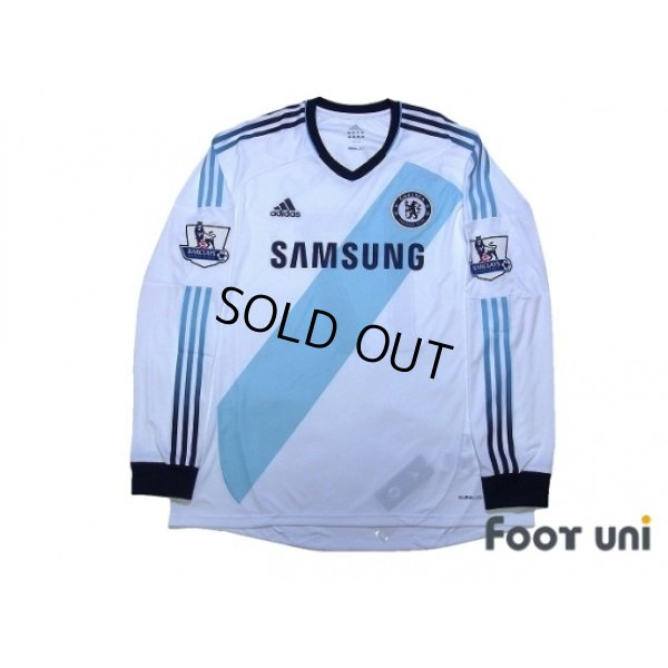Photo1: Chelsea 2012-2013 Away Long Sleeve Shirt #17 Hazard BARCLAYS PREMIER LEAGUE Patch/Badge w/tags