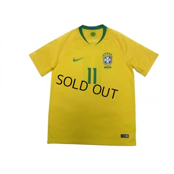 Photo2: Brazil 2018 Home Shirts and shorts Set #11 Philippe Coutinho
