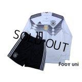 Germany 2018 Home Long Sleeve Shirts and shorts Set #10 Ozil