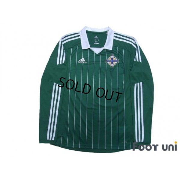 Photo1: Northern Ireland 2012-2013 Home Long Sleeve Shirt