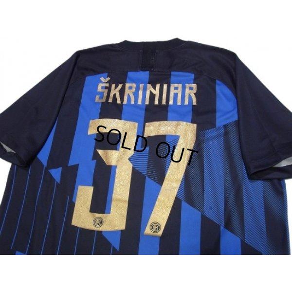 Photo4: Inter Milan 2018-2019 Home Shirt #37 Skriniar w/tags