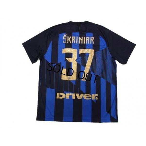 Photo2: Inter Milan 2018-2019 Home Shirt #37 Skriniar w/tags