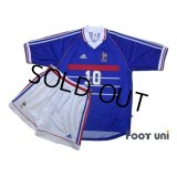 France 1998 Home Shirts and Shorts Set #10 Zidane