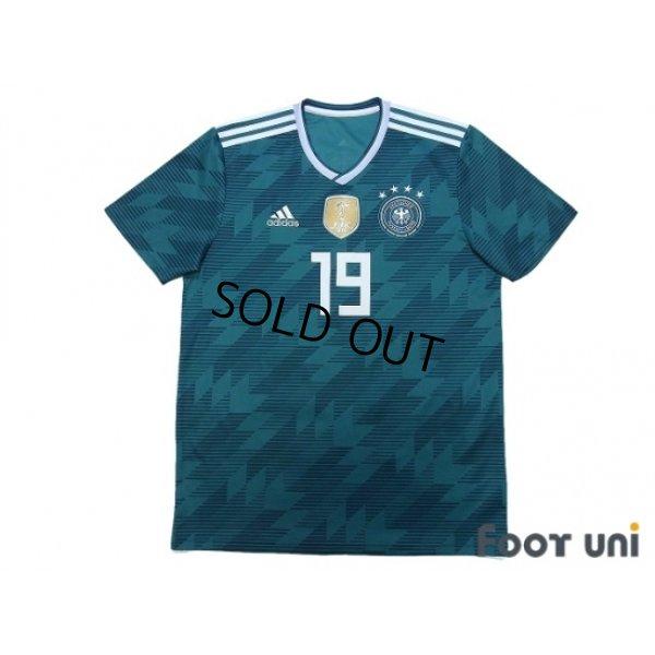 Photo1: Germany 2018 Away Shirt #19 Leroy Sane FIFA World Champions 2014 Patch/Badge
