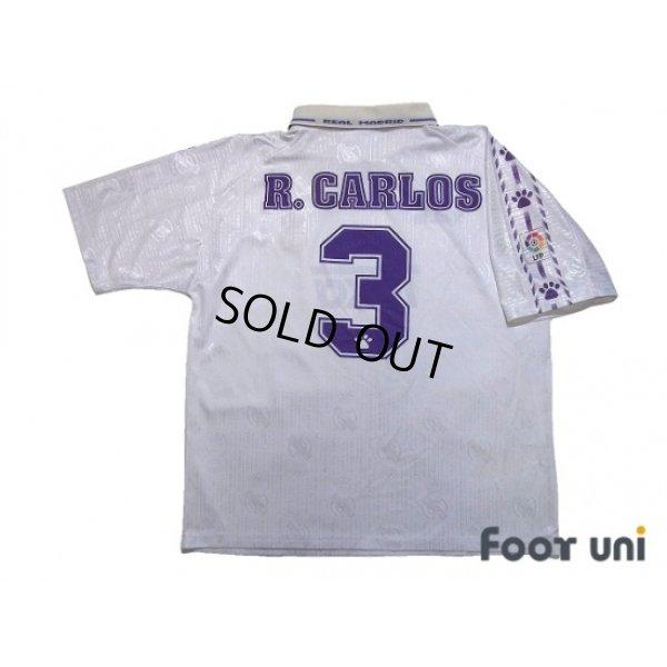 Photo2: Real Madrid 1996-1997 Home Shirt #3 Roberto Carlos LFP Patch/Badge