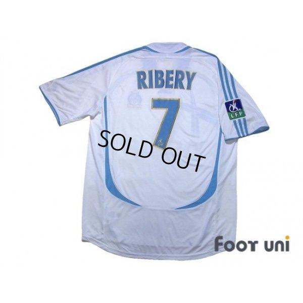 Photo2: Olympique Marseille 2006-2007 Home Shirt #7 Ribery LFP Patch/Badge