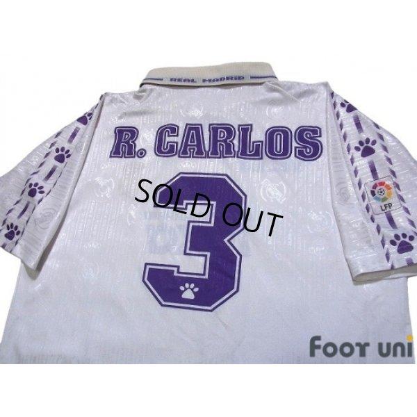 Photo4: Real Madrid 1996-1997 Home Shirt #3 Roberto Carlos LFP Patch/Badge