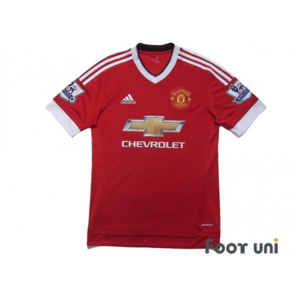 Photo1: Manchester United 2015-2016 Home Shirt #18 Young BARCLAYS PREMIER LEAGUE Patch/Badge