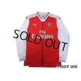 Arsenal 2016-2017 Home Long Sleeve Shirt #11 Ozil