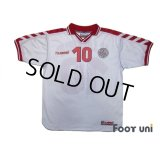 Denmark 1998 Away Shirt #10 Michael Laudrup