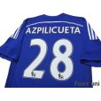 Photo4: Chelsea 2014-2015 Home Shirt #28 Azpilicueta (4)