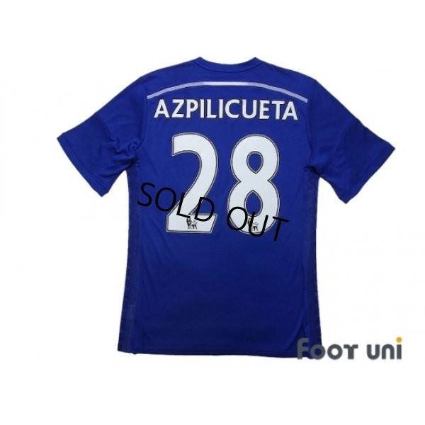 Photo2: Chelsea 2014-2015 Home Shirt #28 Azpilicueta