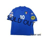 Italy 2000 Home Shirt #10 Del Piero UEFA Euro 2000 Patch/Badge UEFA Fair Play Patch/Badge